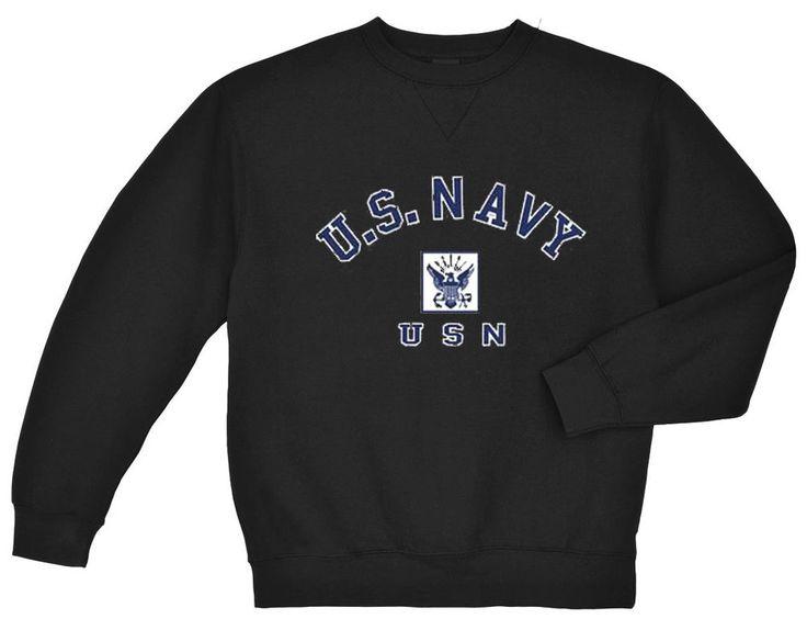US Navy sweatshirt USN sweatshirt Men's usn eagle sweat shirt design black #Gildan #TracksuitsSweats
