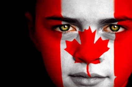 Canadian... we expect you all to paint your face like this on July 1st!