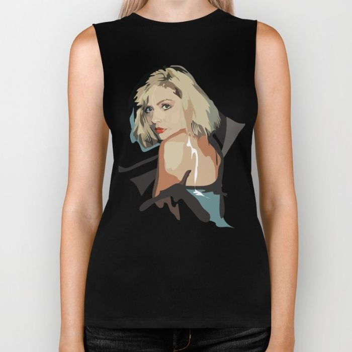 Debbie Harry Biker Tank in Black #art #fashion #debbieharry