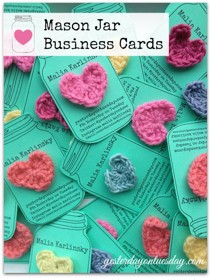 adorable DIY mason jar business cards ... these would also be so cute as gift tags