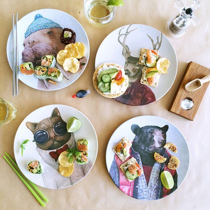 Psst Animal Portraits Melamine Plate Sets Are Back In