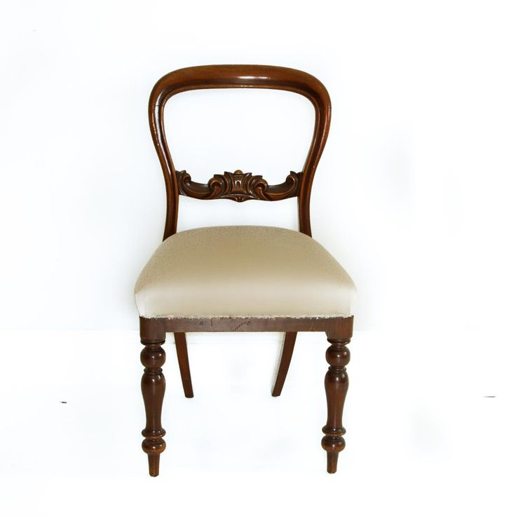 Victorian wood and fabric chair