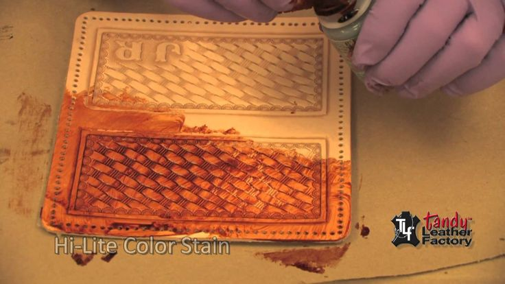 George Hurst teaches you how to use Antique Gel Dye  in this leathercraft video by Tandy Leather.