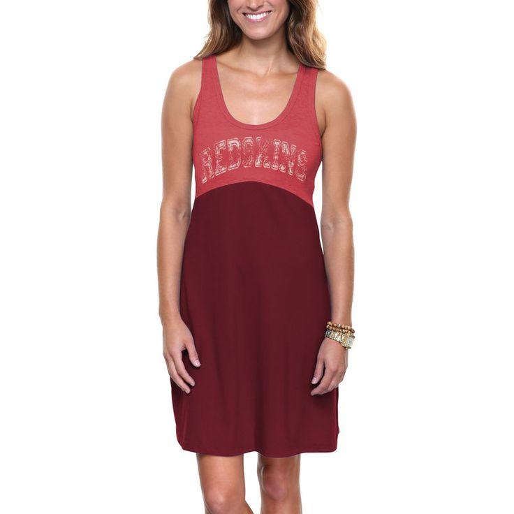 Washington Redskins Women's Baby Jersey Dress - Burgundy