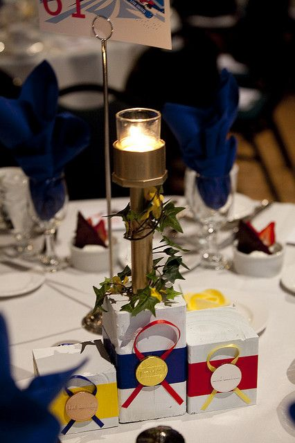 Olympic themed centerpieces