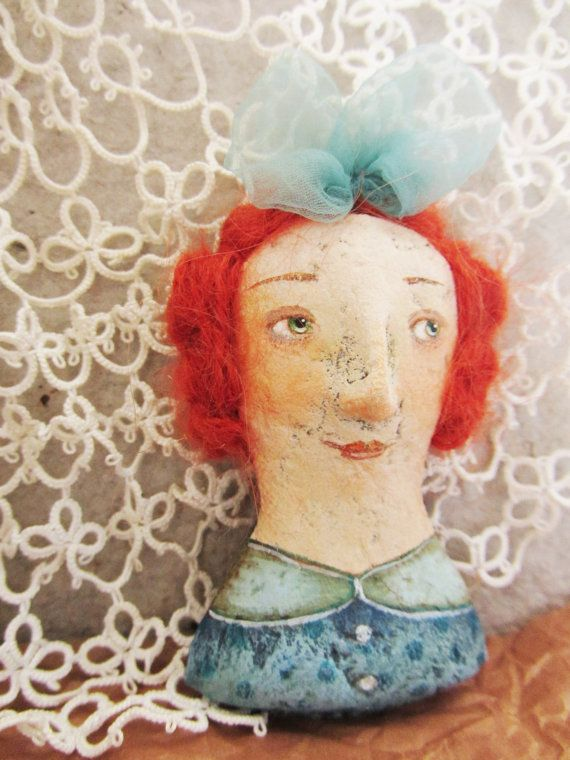 Ginger girl brooch,redhead, lassie, a gift Jewelry for girl ,Brooch for girl,girl pin