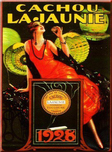 PLAQUE METAL 20X15cm PUB RETRO CACHOU LAJAUNIE 1928 - M643: Amazon.fr: Cuisine & Maison