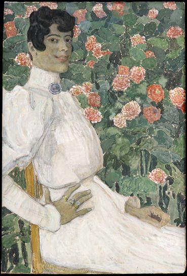 Aleksandr Golovin (Russian, 1863-1930) - Spanish Woman in White / Александр Головин - Испанка в белом