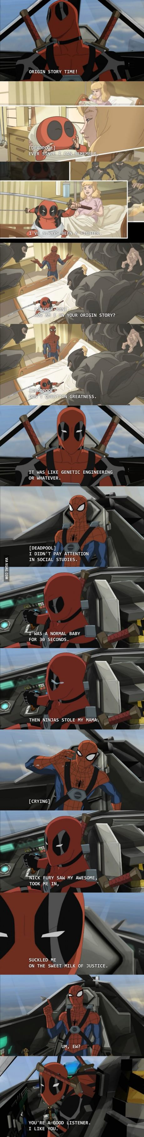 Origin Story Time! Spider-man & Deadpool