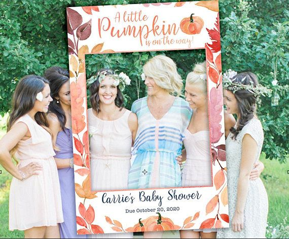 Baby Shower Pumpkin Photo Booth Frame Fall Autumn Photo Booth Prop