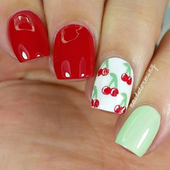 Gorgeous Cherry Nails! - Best 25+ Cherry Nails Ideas On Pinterest Cherry Nail Art, Dot