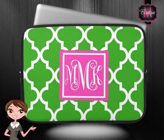 MacBook Air/Pro Sleeve, Laptop, Chrome Book and Computer Sleeve, Personalized & Monogrammed , #monogramgift, #monogram, #personalizedgift, BoutiqueMonogram.com