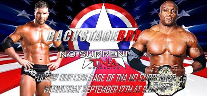 """Fans get ready for TNA's special event No Surrender this Wednesday at 9 on spike. See The Hardys, Team 3D, and The Wolves battle it out in a Ladder Match and Watch as Bobby Roode seeks to claim the TNA World Heavyweight Championship from """"The Destroyer"""" Lashley and much more. Don't miss No Surrender as we cover all the action live."""