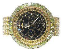 Breitling Bentley Watch With 78.00 Carats TW of Yellow Diamonds in 18 Karat & 14 Karat Yellow Gold