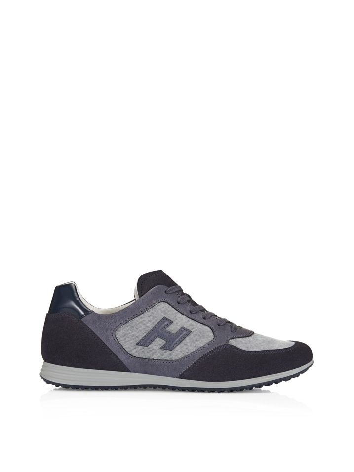 Hogan - Olympia X - H205 - HXM2050L3515OP516Q - Suede sneakers with high-tech fabric panels, leather detailing and Hogan monogram on the side. Urban-casual. - Suede upperHigh-tech fabric and leather panelsExposed stitchingEmbossed Hogan monogram on the sideRubber outsoleExtractable Fussbett 1 cmFabric woven by means of traditional looms. Its washed-out appearance was obtained by a unique processing during the dying phase, which will not allow the fixture of the colour; theref