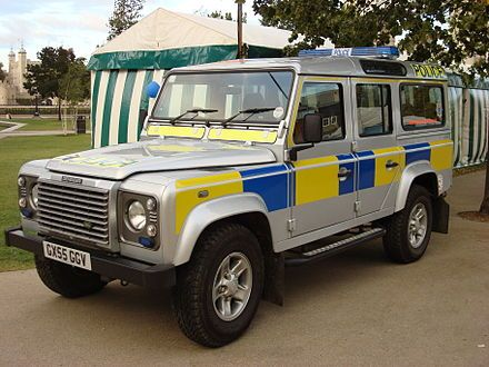 Sussex Police Land Rover.