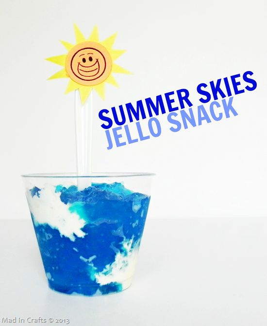 Summer Skies Jello Snack from www.iheartnaptime.net. Part of 50 of the BEST Kids' Snack and Lunch Ideas!