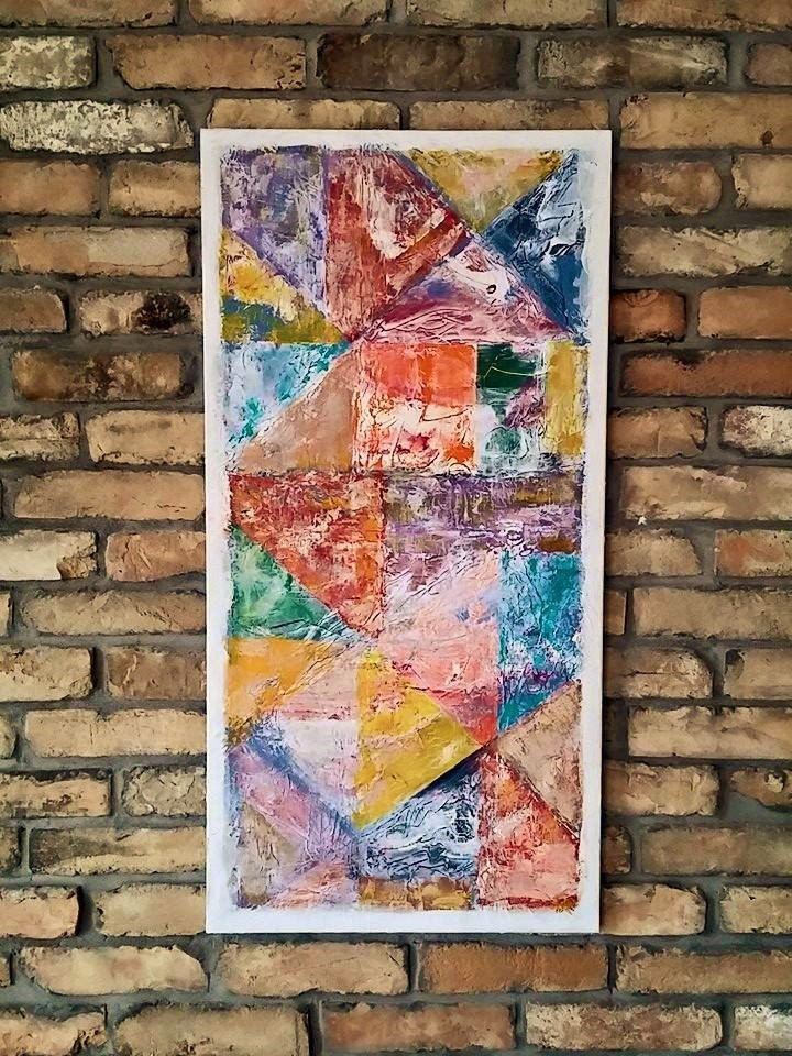 Abstract Painting / Canvas Wall Art / Original Hand Made /  /Geometric Modern Art /  Acrylic Painting by MravikArt on Etsy