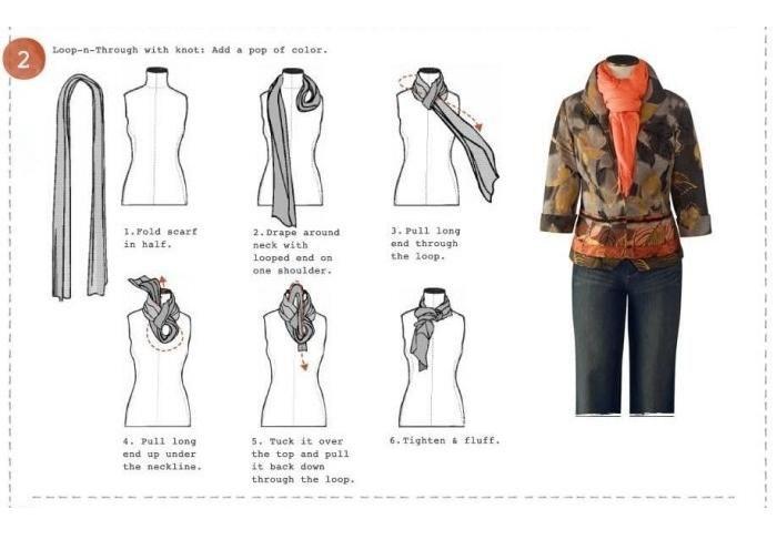 Formas para anudar un pañuelo o fular en la primavera 2013