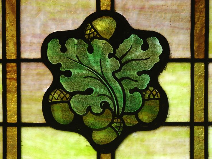 oak leaf stained glass - Google Search More
