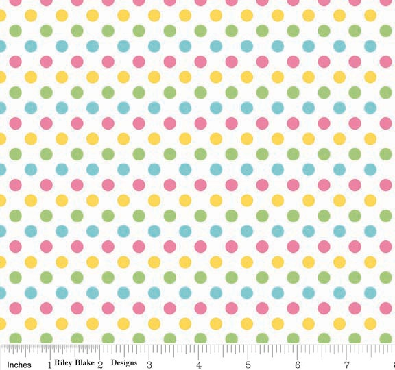 Small Dots C350-03 Girl from the RBD Designers for Riley Blake Fabrics 1 yard
