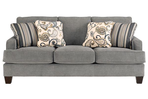 Yvette in steel; sofa idea from Ashley Furniture