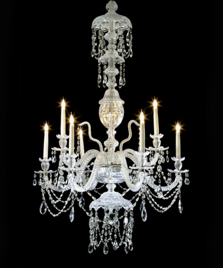 An antique cut glass chandelier. #antiques #lighting #chandelier