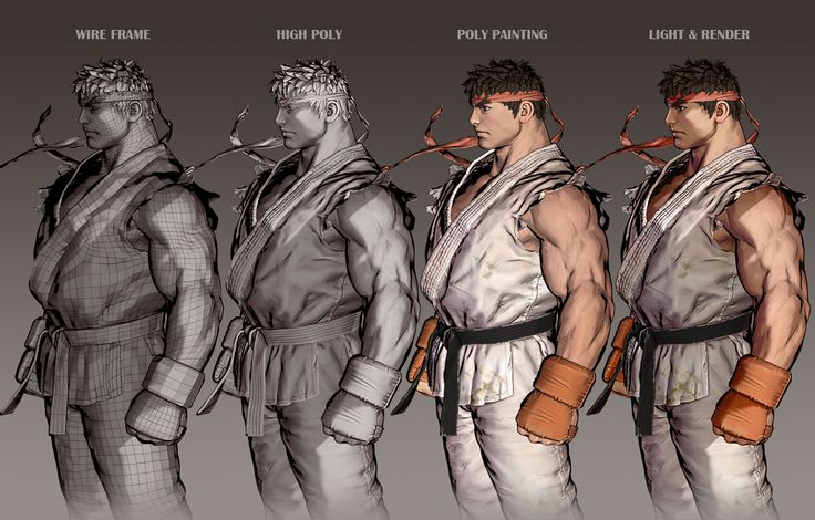 http://www.zbrushcentral.com/showthread.php?185785-RYU-Comicon-Challenge-2014