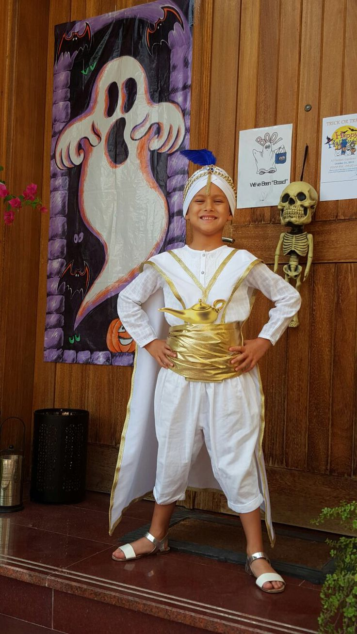DIY Aladdin Prince Ali costume for my 5yo daughter