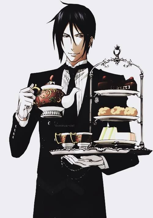 Sebastian Michaelis *black butler * hes sexy he cooks he cleans & has a really sexy voice! * why must the hott ones only exist mostly  in anime*