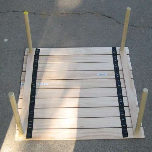 easy roll up portable table **I want one of these for the camper!** maybe make with 2 sized legs - one to prep on and one for the kids to eat at***