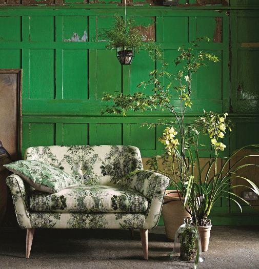 Botanical love seat.