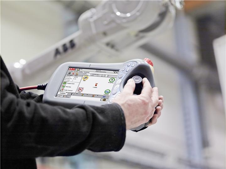 RobotWare Machine Tending is a flexible controller software for deployment and operation of ABB robots. It includes an intuitive graphical user interface, that enables trouble-free and safe operation, easy production monitoring & control, as well as automatic program and part selection.