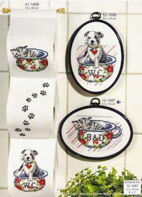 Милые сердцу штучки: рукоделие, декор и многое другое: Вышивка крестом: Подвесные журнальницы и держатели туалетной бумаги