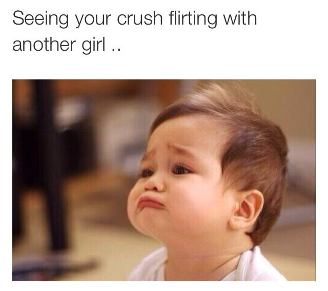When your crush flirts with someone else... back pain hilarious