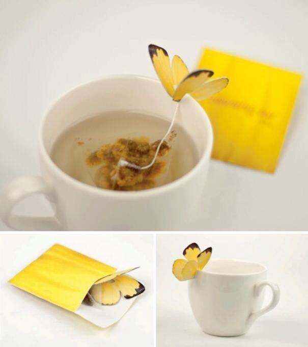 Papillon accroche thé