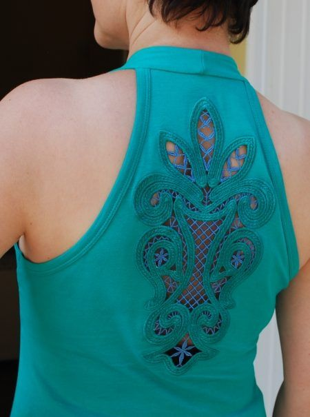 Advanced Embroidery Designs. Cutwork Lace Inset - instructions on how to embroider the machine design.