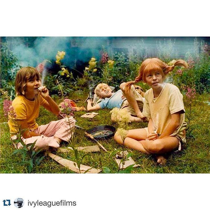 One of my favourite #childhood #tv #series #Pippi #FifiBrindacier @ivyleaguefilms PIPPI ON THE RUN ('70). Pippi smoking with Tommy and Annika. Directed by #OlleHellbom #Films #Filmmaker #Filmmakers #Filmmaking #Filming #ShortFilm #FeatureFilm #Movies #Mov