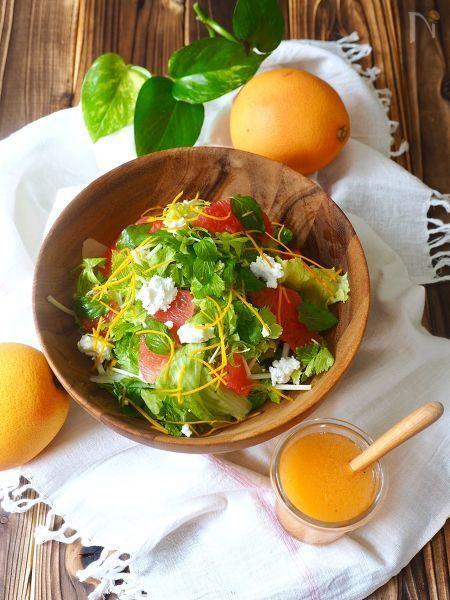 グループフルーツジュースで作る、爽やかドレッシング‼️  グレープフルーツサラダや、グリーンサラダなどによく合います。