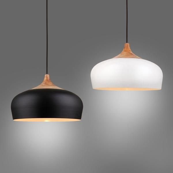 Made from metal with a gloss white finish and natural wood stem.A beautiful organic shape paired with the elegance of natural wood.Stunning in a series over you
