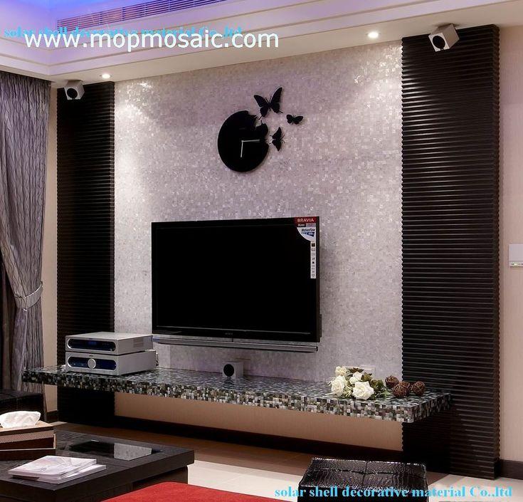 Tv Set On Wall | Shell TV Set Background Wall