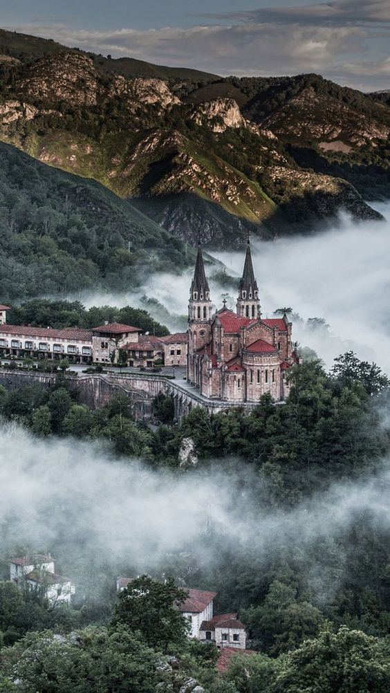 At the mountain village in Covadonga, Spain.