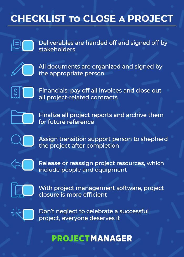 5 Steps To Project Closure Checklist Included Software Project