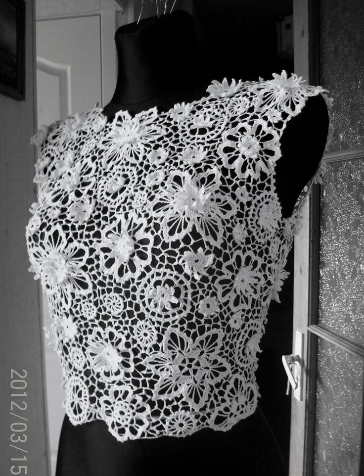 Judy would look elegant in this......Irish crochet lace blouse via Etsy.