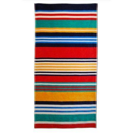Superior Cotton Jacquard Oversized Beach Towel, Multicolor