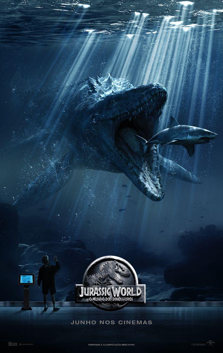 Cartaz oficial de #JurassicWorld - #Mosassauro