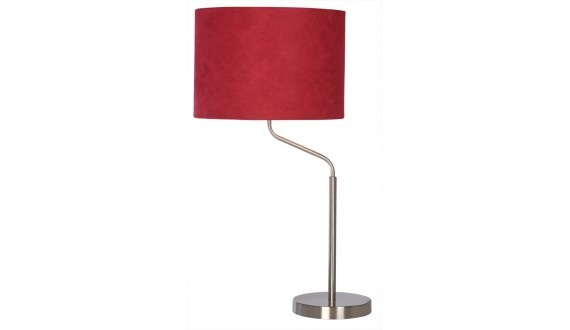Surge Table Lamp - Fabric & Metal - Red H620*300mm