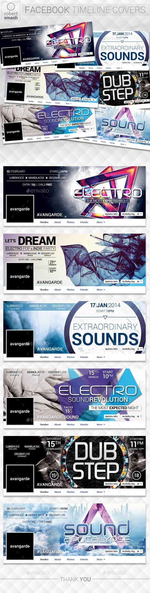 6 Music Event Facebook Timeline Covers vol.2 PSD Template • Download ➝ https://graphicriver.net/item/6-music-event-facebook-timeline-covers-vol2/12881249?ref=pxcr
