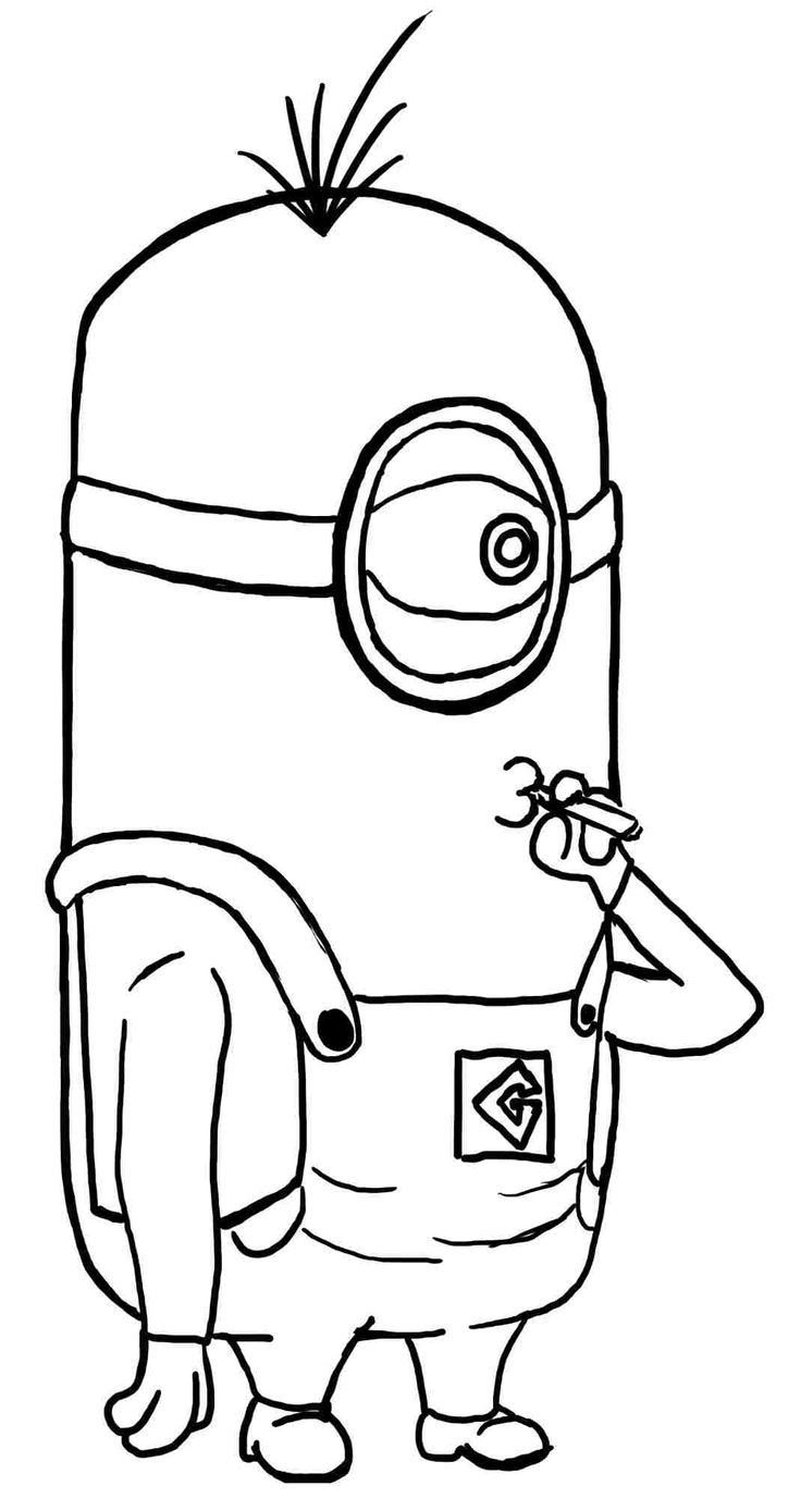 coloring pages despicable me minion anime printable