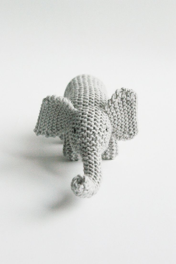 knitted toy MY FRIEND ELEPHANT / eco kids / baby or toddler gift / made to order